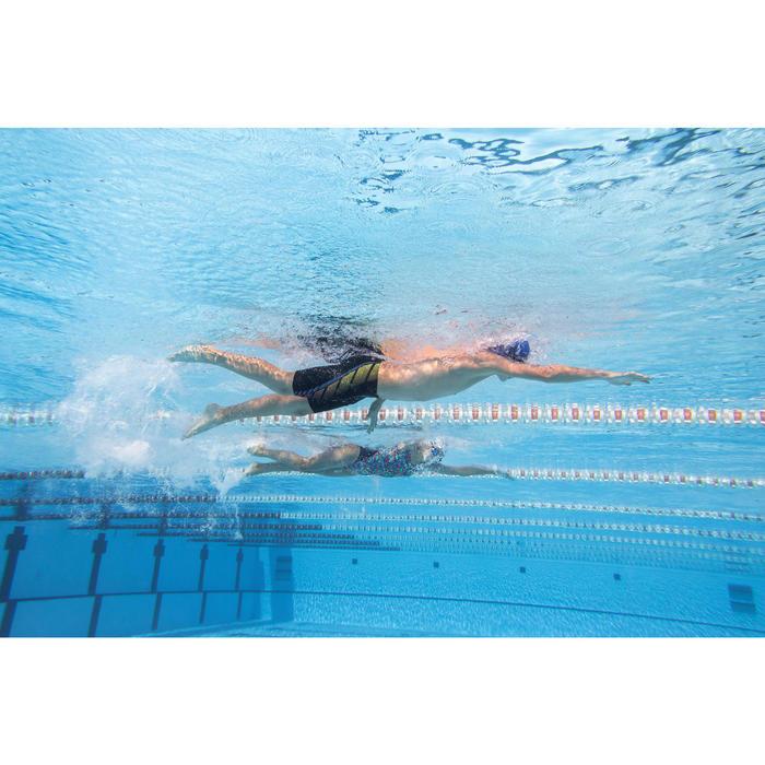 Jammer wedstrijdzwemmen jongens 500 First zwart/gele en oranje stippen
