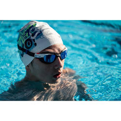 Lunettes de natation 500 SPIRIT Taille S orange bleu verres miroir