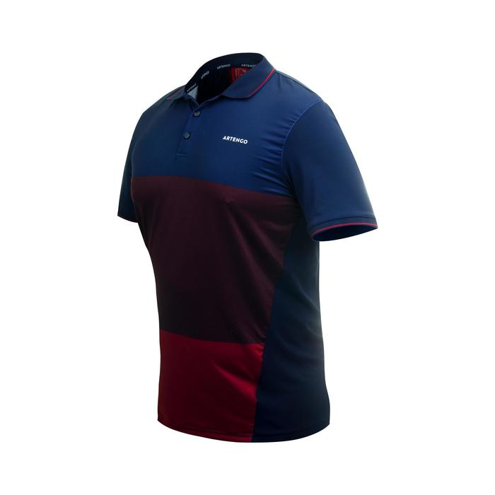 Dry 500 Tennis Polo Shirt - Burgundy/Print