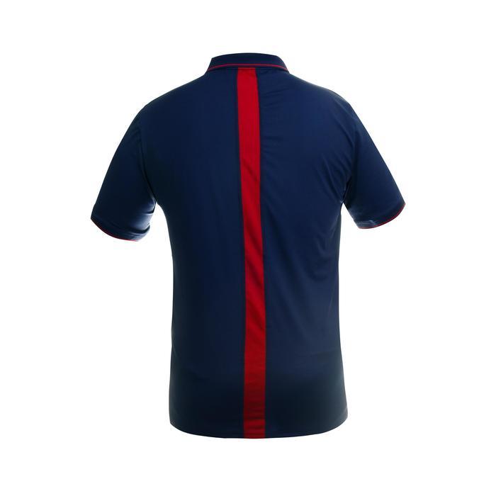 網球Polo衫Dry 500-酒紅色印花