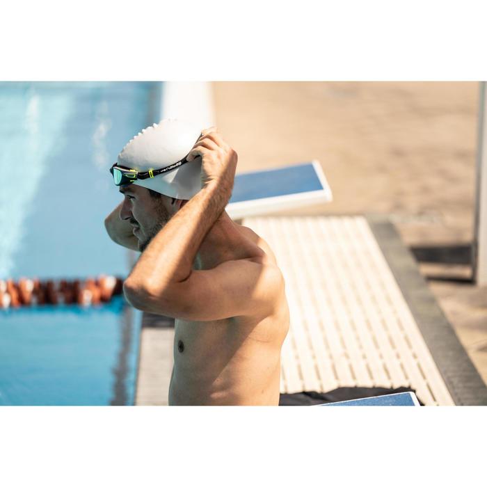 矽膠泳帽500白色