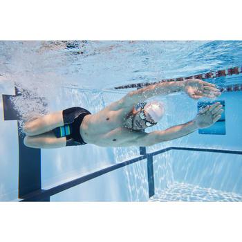 游泳夾腳浮板500,M號-藍色綠色