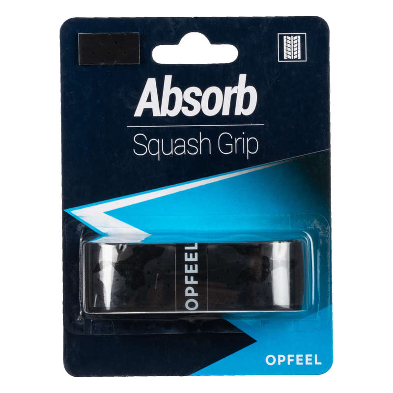 SQUASHRACKET Racketsport - Grepplinda ABSORB svart OPFEEL - Squashutrustning