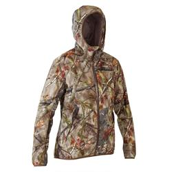 VESTE CHASSE FEMME 500 SILENCIEUSE IMPERMEABLE RESPIRANTE CAMOUFLAGE