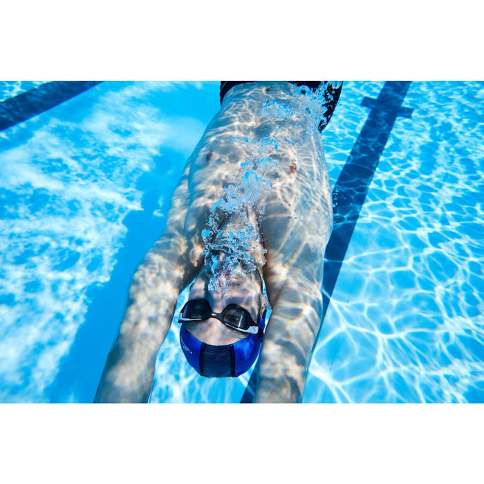 Zwembril 500 Spirit maat L oranje/blauw getinte glazen