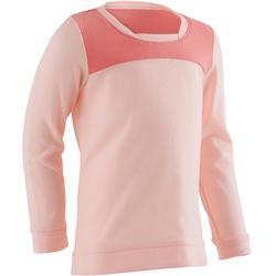 T-Shirt Langarm 500 Babyturnen rosa
