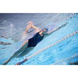 Bañador Natación Piscina Nabaiji Kamiye Mujer Forma Espalda X Competición Lineas