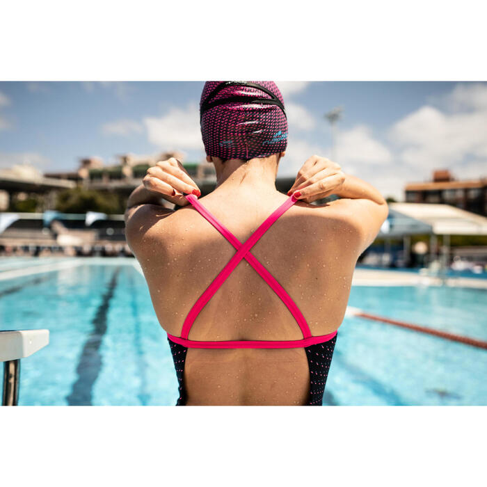Maillot de bain de natation une pièce femme résistant au chlore Jade
