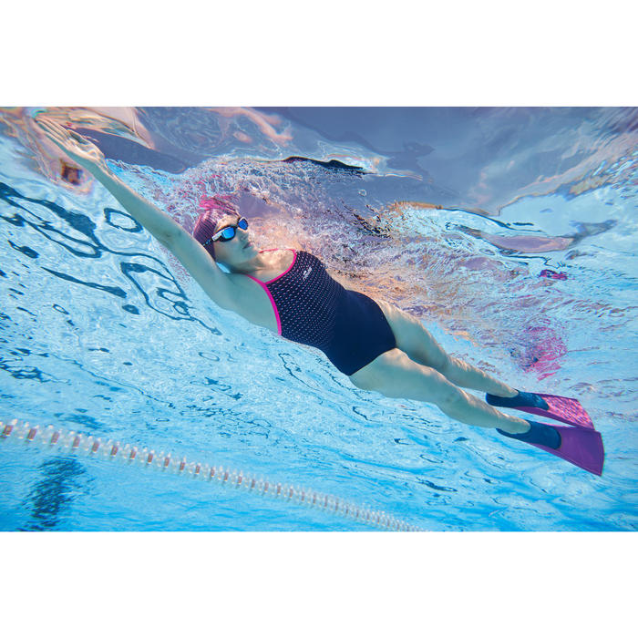 Maillot de bain de natation une pièce femme résistant au chlore Jade Laz Pink