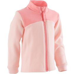 Trainingsjacke 120 Babyturnen rosa mit Muster