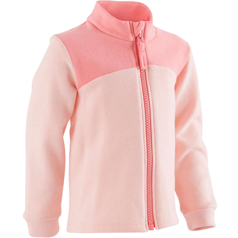 BABY GYM APPAREL Baby and Toddlers - 120 Jacket - Pink Print DOMYOS - Kids
