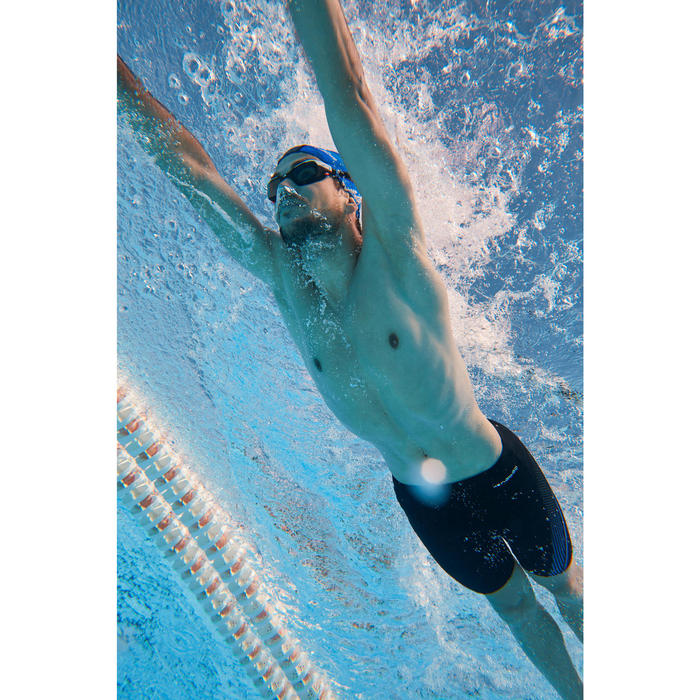 Lunettes de natation 500 SPIRIT Taille L Orange Bleu verres fumés