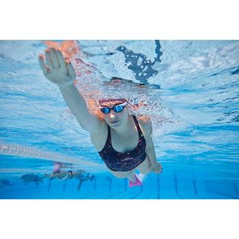 Schwimmbrille verspiegelt 500 Spirit Größe S orange/violett