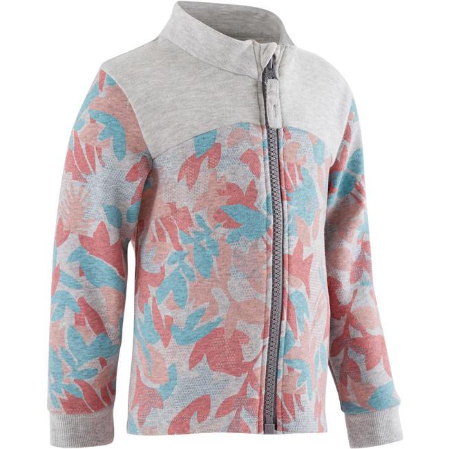120 Baby Gym Jacket - Grey/Pink