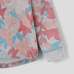 Vest kleutergym 120 grijs/roze