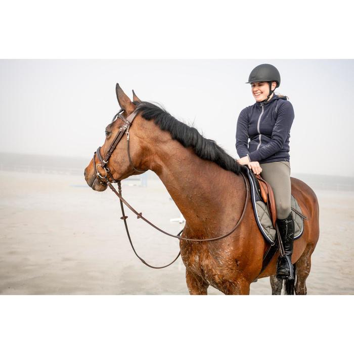 Pantalón Equitación Fouganza 100 Warm Mujer Caqui Cálido Badana de Tela