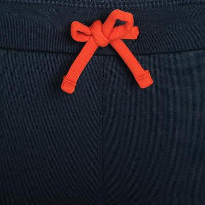 Leggings cálidos atletismo júnior gris abismo y naranja