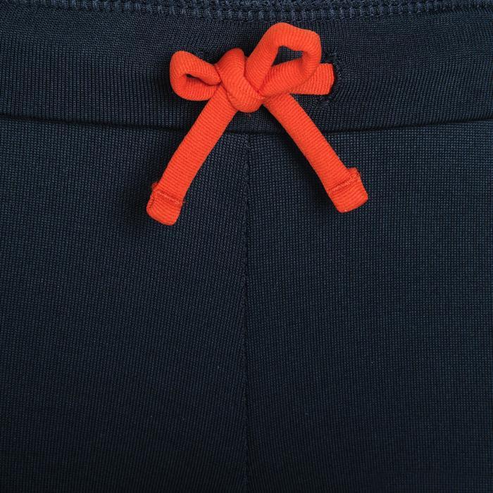 Collant enfant d'athlétisme par temps froid gris abysse et orange