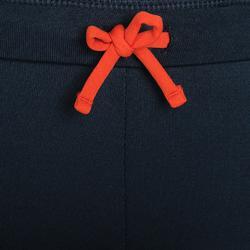 Laufhose lang Tights Leichtathletik Kinder dunkelgrau/orange