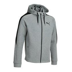 Heren hoodie met rits donkergrijs