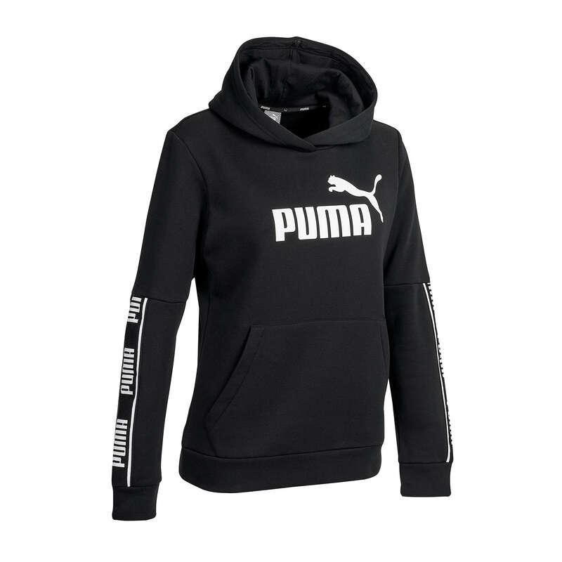 PANTALONI E GIACCHE DONNA Ginnastica, Pilates - Felpa donna gym pilates nera PUMA - Abbigliamento donna