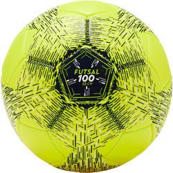 Mini zaalvoetbal FS100 maat 2 geel