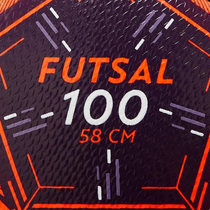 Zaalvoetbal FS100 maat 3 oranje/rood