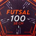 FUTSALOVÉ LOPTY FUTSAL - FUTSALOVÁ LOPTA FS100 58 CM IMVISO - BRÁNKY A LOPTY  NA FUTSAL