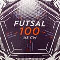 MÍČE NA FUTSAL Futsal - FUTSALOVÝ MÍČ 100 63 CM BÍLÝ IMVISO - Futsal