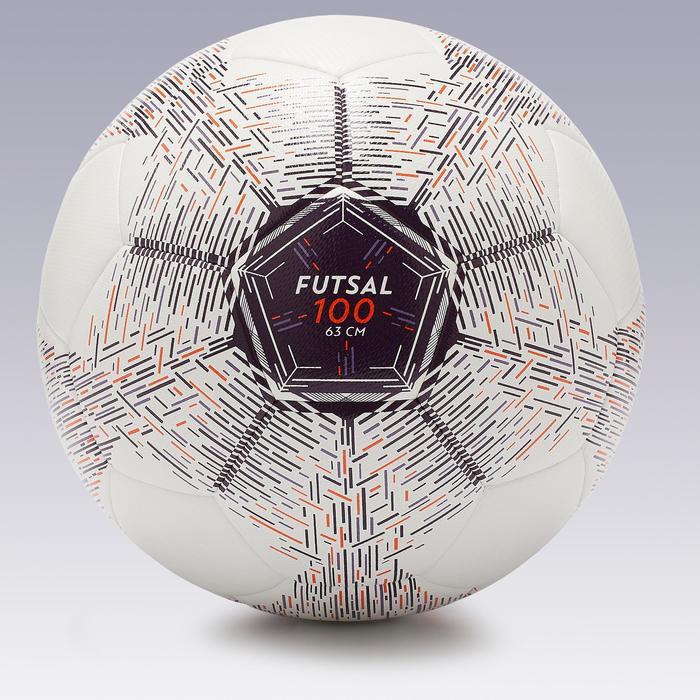 Zaalvoetbal 100 Hybride maat 4 wit