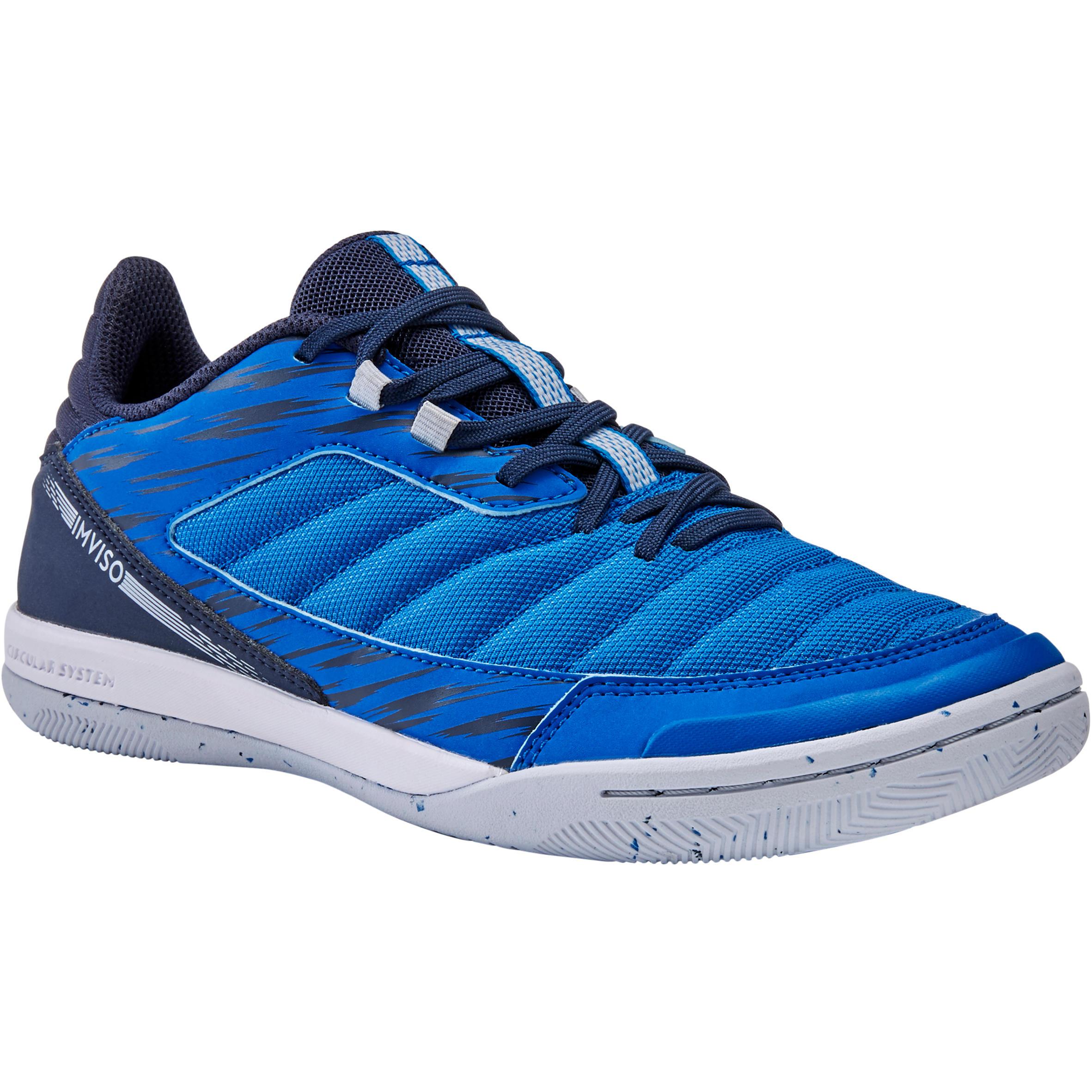 Hallenschuhe Futsal Eskudo 500 IN Damen blau/grau | Schuhe > Sportschuhe > Hallenschuhe | Blau - Rosa | Imviso