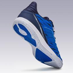 Chaussures de futsal femme ESKUDO 500 textile bleues grises
