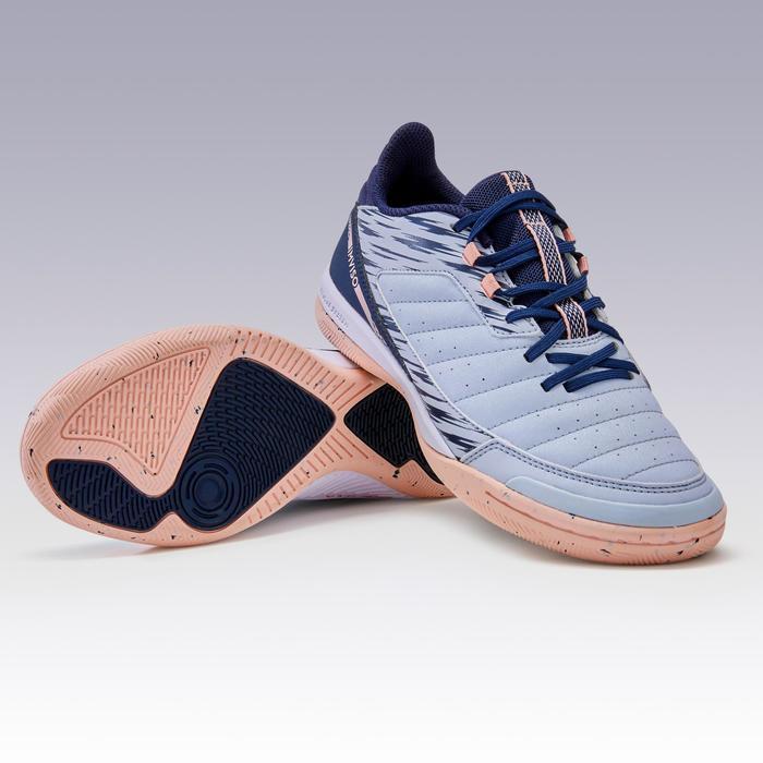Zapatillas de Fútbol sala mujer Eskudo 500 gris y rosa