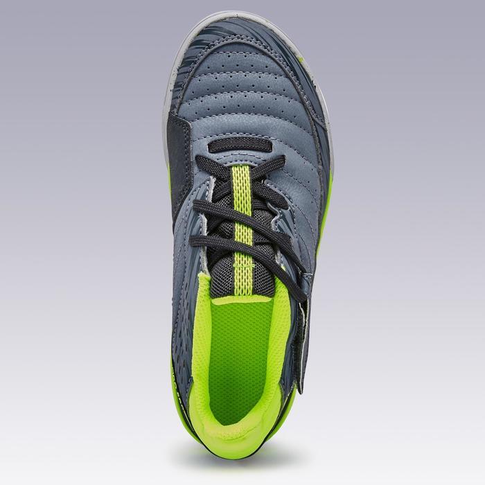 Zaalvoetbalschoenen kind Eskudo 500 klittenband grijs