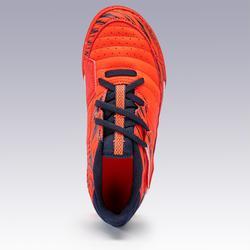 Zaalvoetbalschoenen kind Eskudo 500 klittenband rood