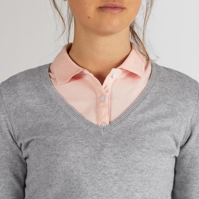 Golf Pullover Damen hellgrau