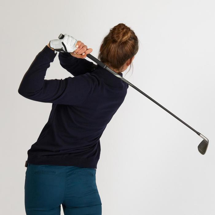 Pull de golf coupe-vent femme MW500 bleu marine