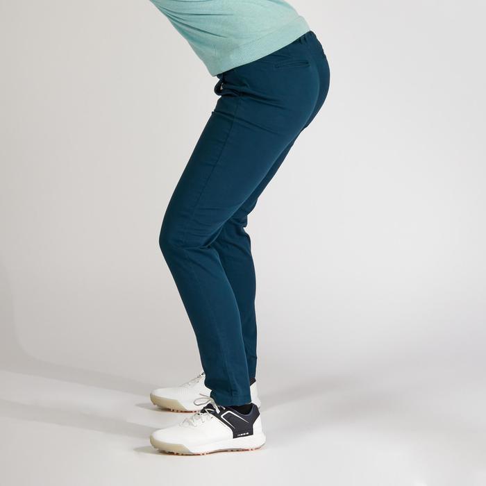 Golfbroek voor dames petrolblauw