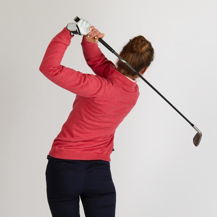 Golf Pullover winddicht Damen erdbeerrosa meliert