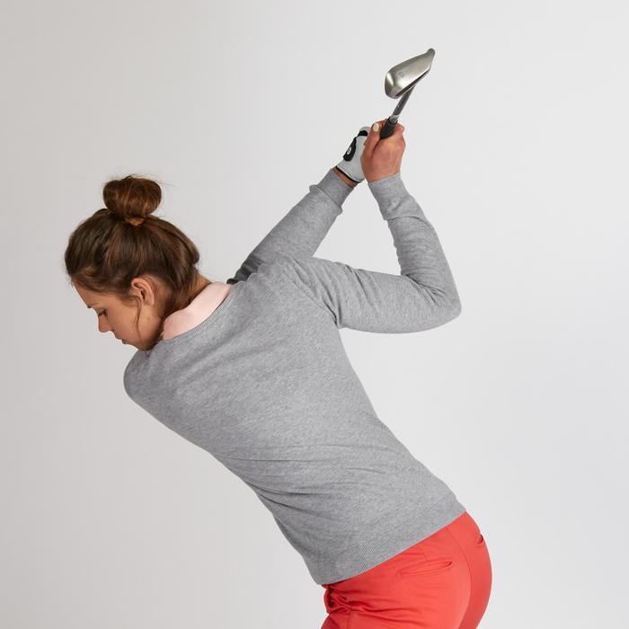 Golftrui voor dames lichtgrijs