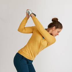 Golftrui voor dames geel