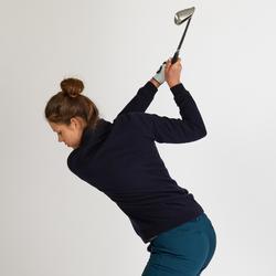 Winddichte golftrui voor dames zacht weer marineblauw