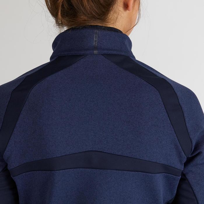 Golf Pullover Zip warm Damen dunkelblau