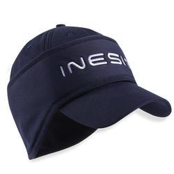 Golfpet met hoofdband voor dames koud weer marineblauw
