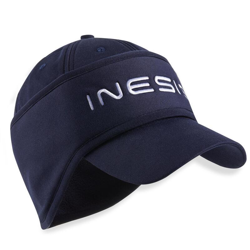 Golfpet met hoofdband voor dames winter CW500 marineblauw