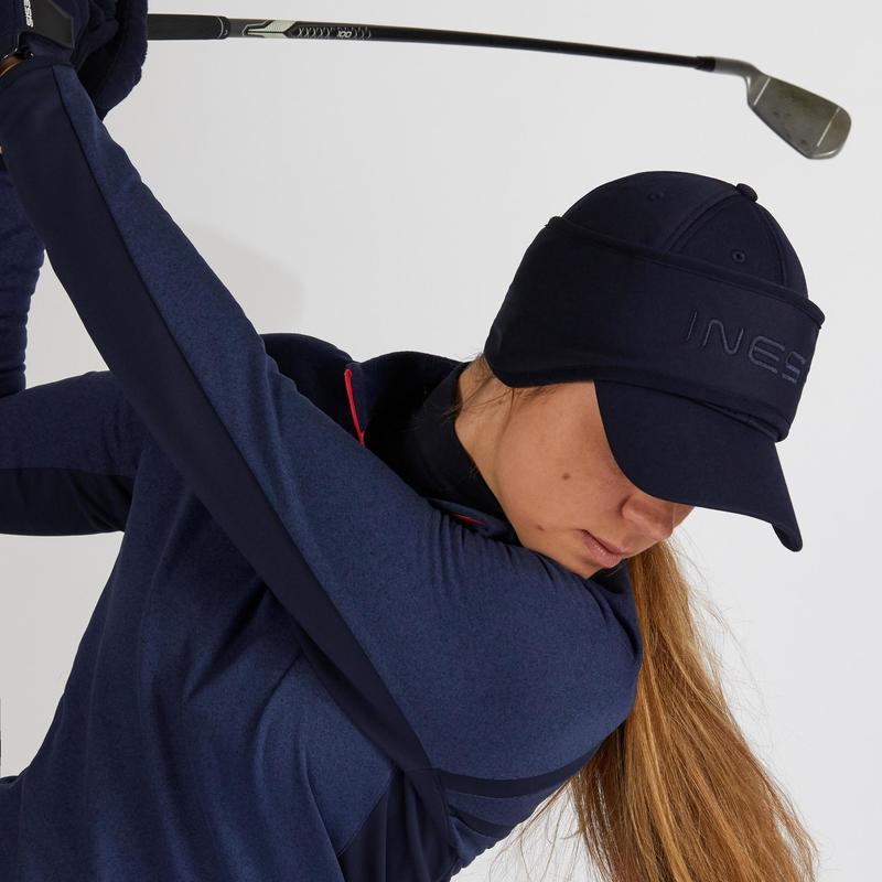 Women's Cold Weather Golf Headband Cap - Navy Blue | Inesis Golf