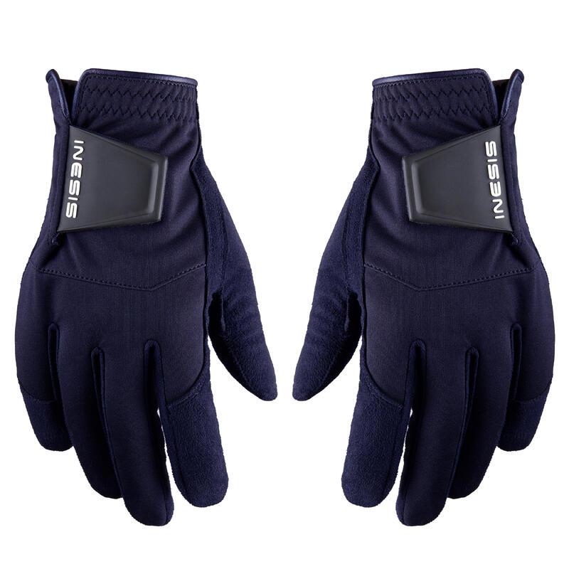 Women's golf pair of RW gloves navy blue