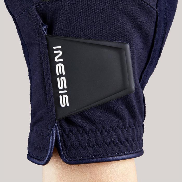 Regenhandschoenen voor golf dames marineblauw