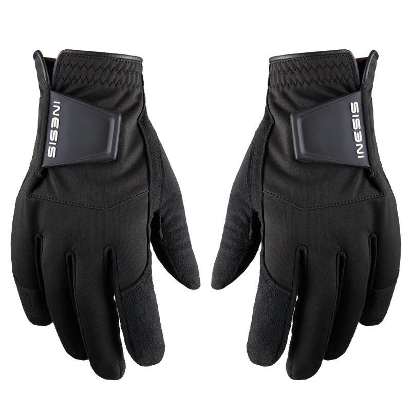 Men's golf pair of rain gloves RW black