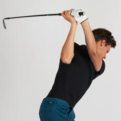 Golfpolo met korte mouwen voor heren zwart